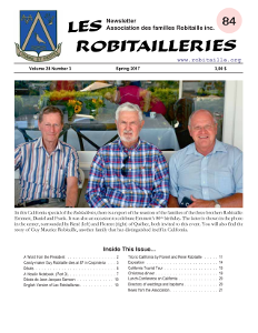 Robitailleries No 84, in English