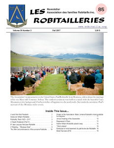 Cover Page of Les Robitailleries #85