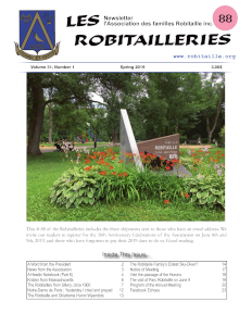 Robitailleries No 88, in English